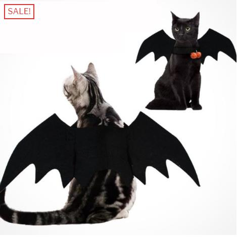 Halloween Pet Bat Wings Decor
