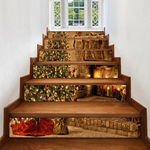Christmas Tree Fireplace Pattern Decorative Stair Stickers
