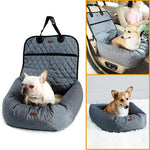 Deluxe Pet Car Front Seat Carrier Basket Soft Pet Safety Vehicle Bed Seat Cover