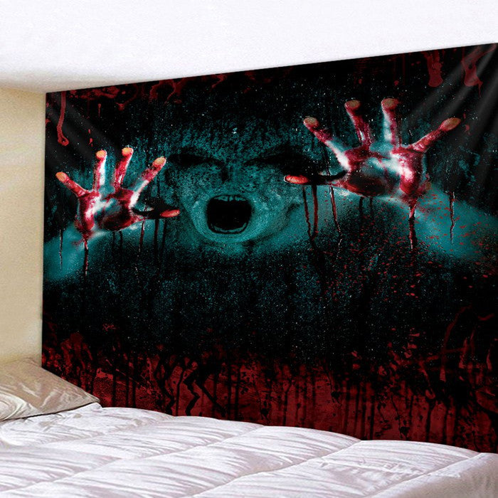 Gothic Halloween 3D  Wall Tapestry