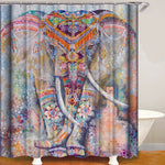 Elephant Play Water Digital Printing Pattern Bathroom Curtain Mildew Waterproof Shower Curtain