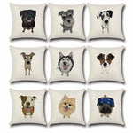 Lovely Pet Animal Pillow Case Car Home Sofa Bed Decor