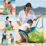 Foldable Beach Bag Sand Away Beach Mesh Toy Sea Shell Tote Kids Toy Storage Bag