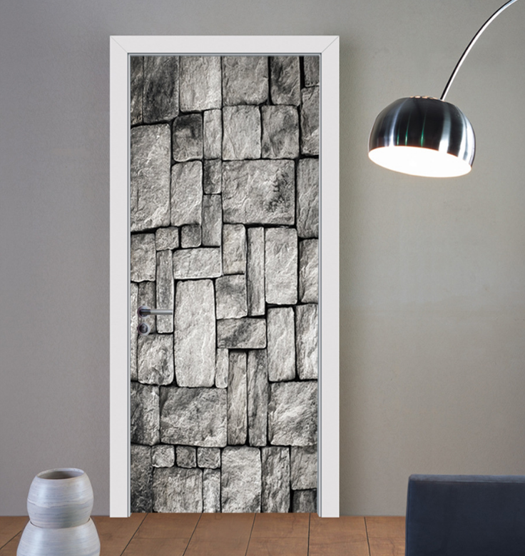 Brick pattern 3D Door Sticker