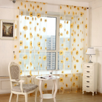 Sun Flower Voile Curtain Transparent Panel Window Room Divider Sheer Curtain Home Decor