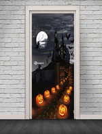 Pumpkin Pattern Door Stickers