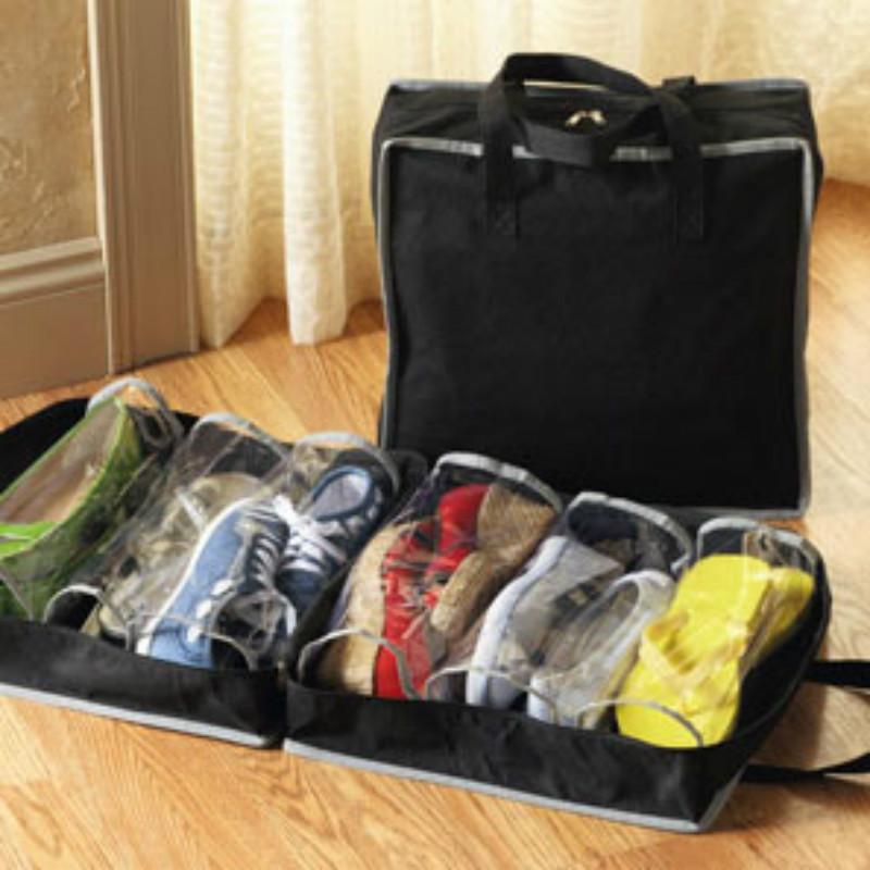 Fits Up to 6 Pairs of Shoes Waterproof Portable Travel Wash Storage Bag