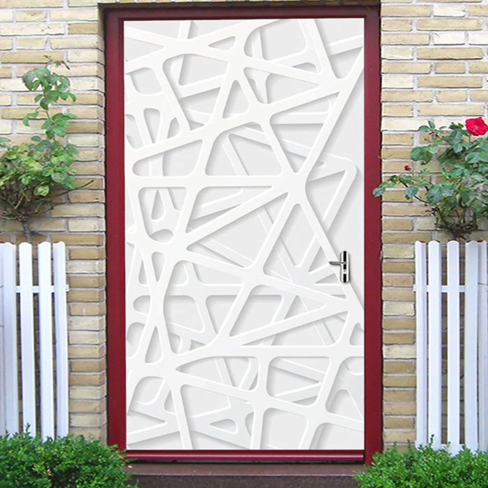Creative Geometric Print Decorative Door Art Stickers