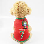 Pet Vest Letter & Number Pattern Dog Clothes