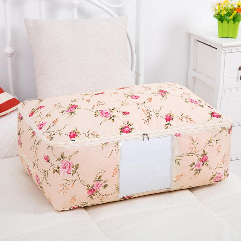 Washable Portable Storage Container Lovely Print Quilts Storage Bags Folding Organizer
