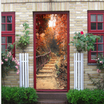 Red Maple Trail Creative Door Sticker