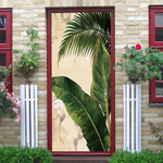 Banana Leaf Creative Door Sticker 2pcs