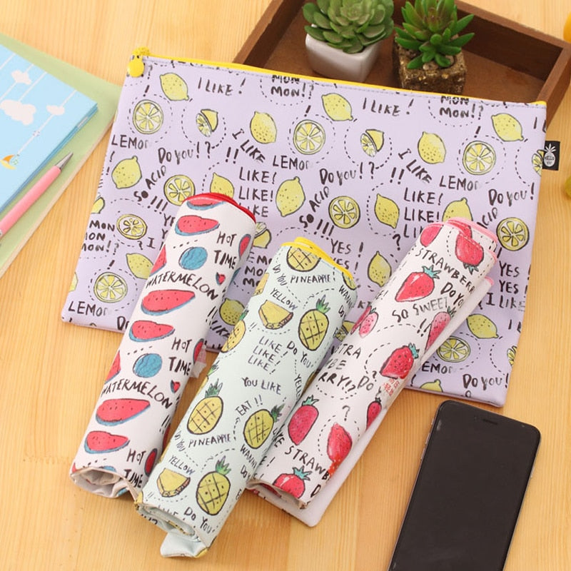 1Pc Files Organizer Print Sweet Simple Style Office Storage