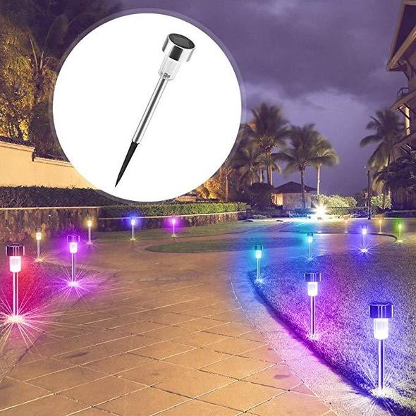 2Pcs Solar Lawn Lights
