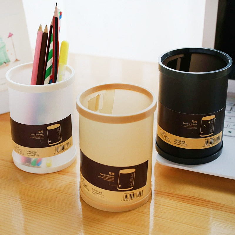 1PC Pen Holders Creative Round Shape Simple Office Storage