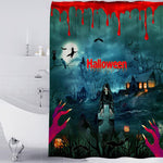 Halloween Series Pattern Bathroom Curtain Mildew Waterproof Shower Curtain