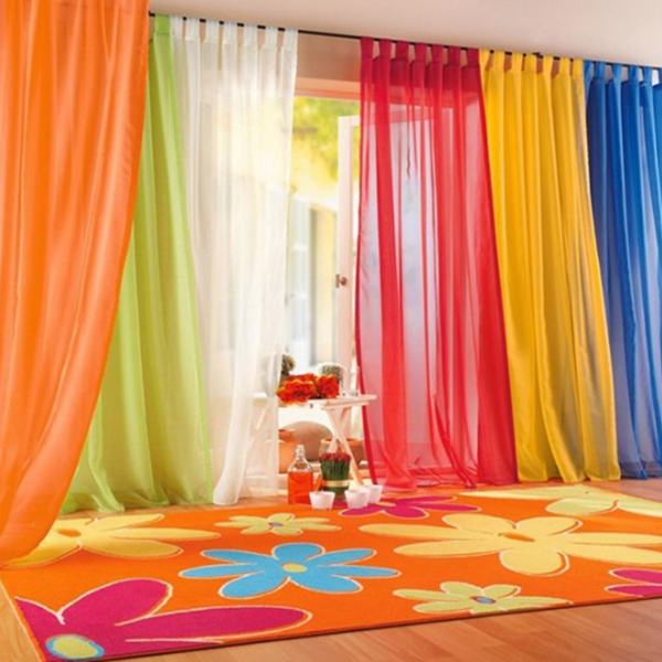 1mx2m Solid Color Blackout Curtains Anti-mosquito Window Shades Tulle Divider Sheer Curtain