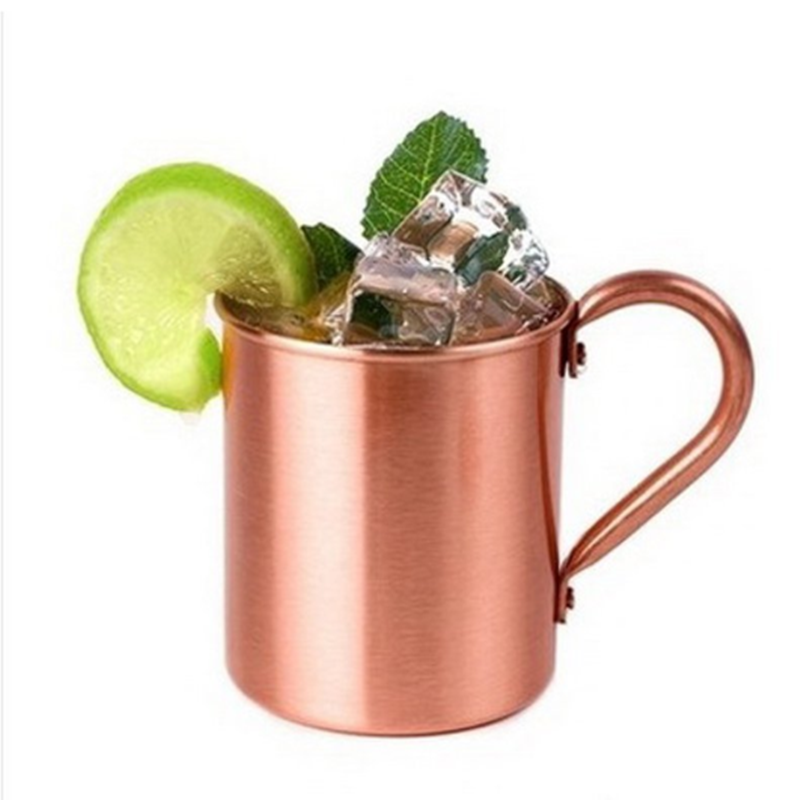 450ML Pure Copper Mug Cup for Moscow Mule Coffee Beer Drinking Camping Chic Gift