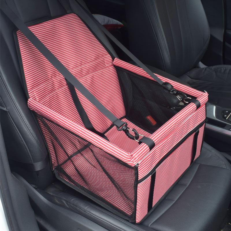 Pet Stripe Car Mat Car Anti-dirty Bag Safety Seat front Row Bag Section Mesh Breathable Cat Bag