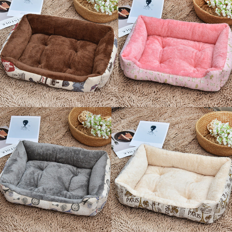 Soft Dog Beds Warm Fleece Lounger Sofa for Small Dogs Large Dog Golden Retriever Bed