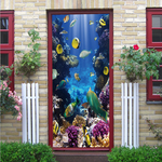 Underwater World Creative 3D Stereo Door Sticker