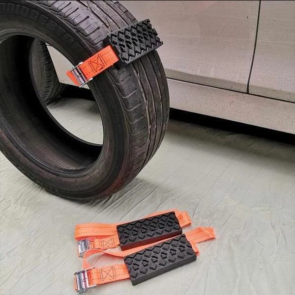Anti Skid Tire Blocks 2 PCS Car Self-Rescue Emergency Snow Mud Sand Tire Chain