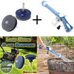Multi Function Jet Spout Soap Dispenser Water Cannon Gun and Lawnmower Blade Sharpener