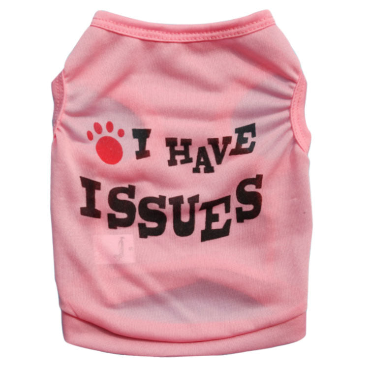 Polyester Material Daily Dog Vest Dog Clothes