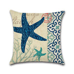 Ocean Creature Octopus Cotton Linen Square Cushion Cover Home Decor Pillow Case