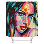 Woman Avatar Pattern Bathroom Curtain Mildew Waterproof Shower Curtain