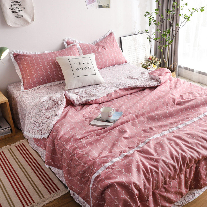 Simplified Lace Purfle Bedding Sets