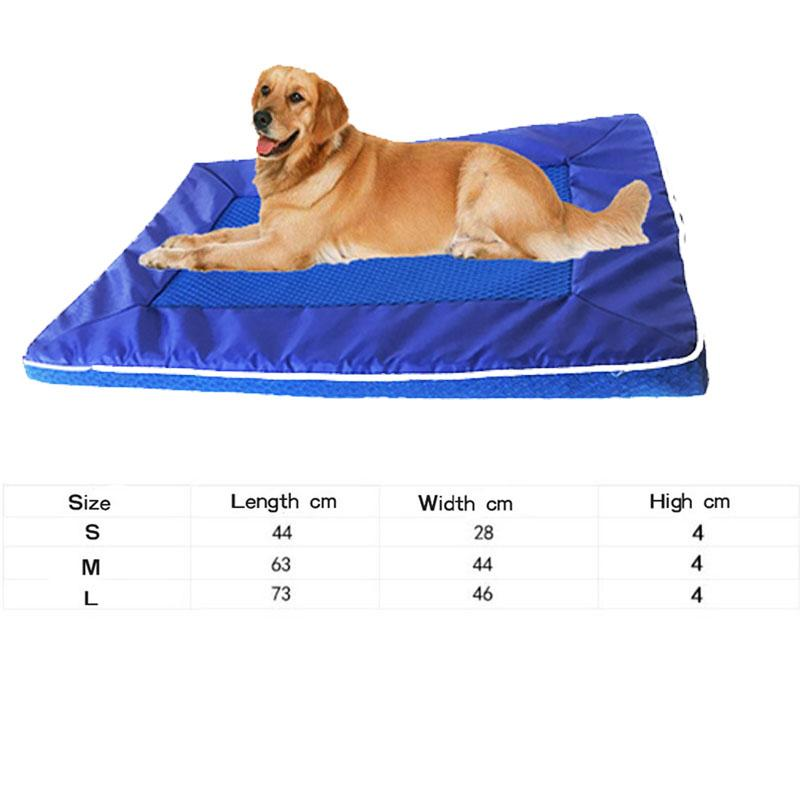 Pet Soft Kennel Cooling Bed Mat Breathable Dog Cat Bed