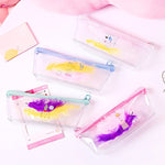 1Pcs Pen Holders Cartoon Simple Feather Decorative Pencil Cases