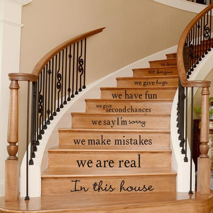 Character Pattern Print Waterproof Stair Stickers
