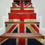 Patriotic Union Flag Print DIY Decorative Stair Stickers