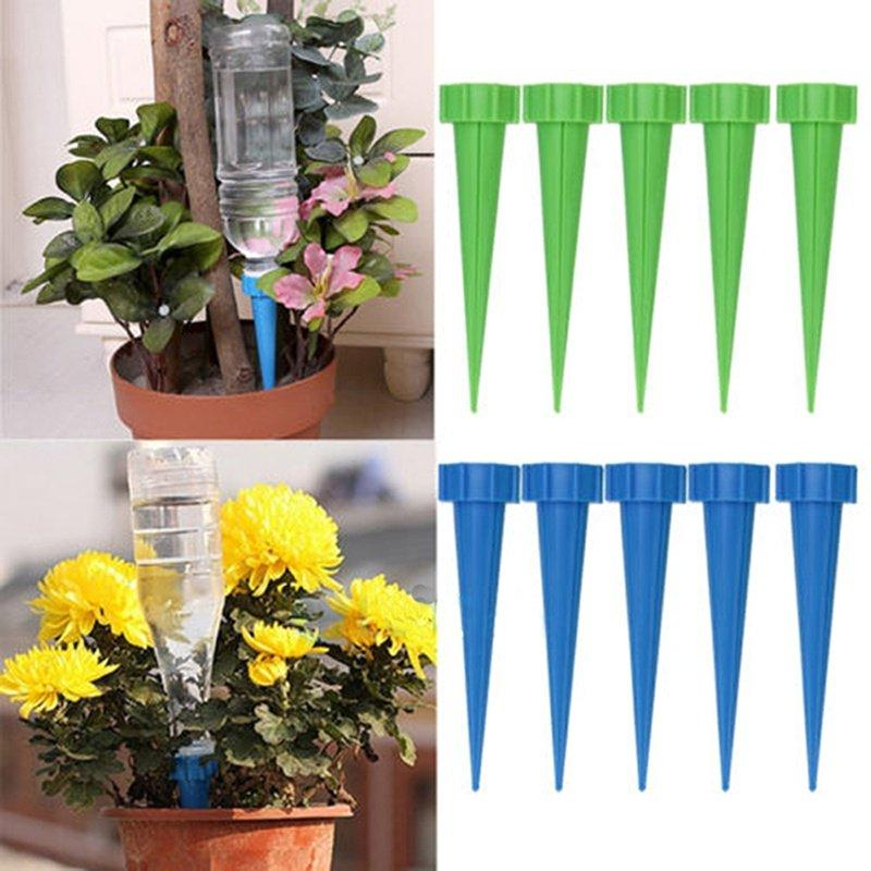 Automatic Watering Irrigation Spike Garden Plant Flower Drip Sprinkler Water Random Color