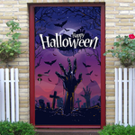Halloween Tomb Zombie Pattern Door Stickers