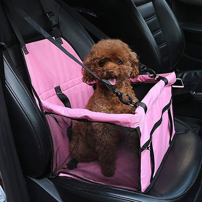 Pet Seat Nest Small Dog Cat Mesh Hanging Breathable Double Layers Outdoor Travel Bag Mat For Car