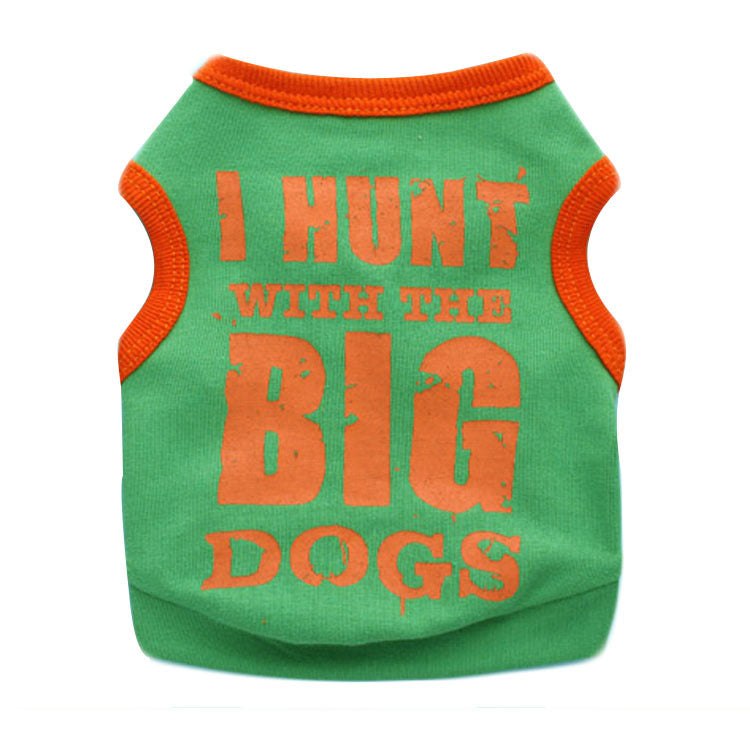 Casual Dog Vest Letter Pattern Dog Clothes