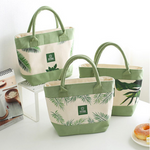 Lunch Tote Bag Canvas Cooler Insulated Handbag Storage Containers Picnic Outdoor