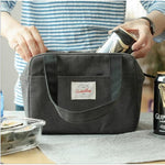 Insulated Cooler Lunch Tote Bag Travel Picnic Handbag Containers