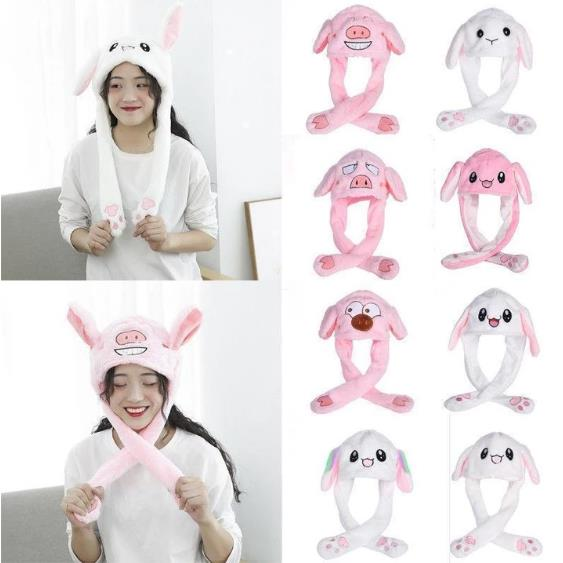 Adorable Plush Jumping Ears Hat