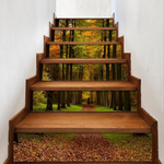 Creative 6Pcs 3D DIY Stair Stickers Forest Path Home Decor