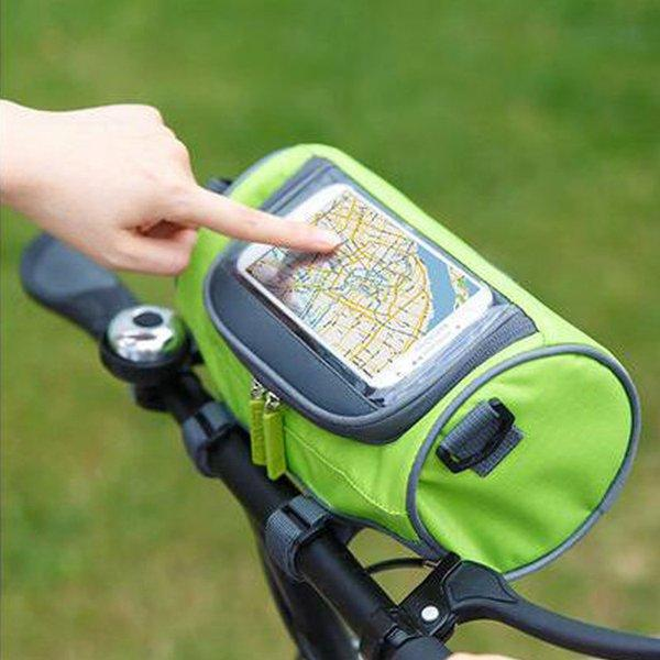 Women Men Outdoor Riding Bag Bicycle Bag Touch-screen Smartphone Bag Bike Front Portable Bag