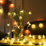 80LED Blossom Flower Decorative Fairy String Lights Indoor & Outdoor Lamp