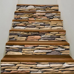 Stones Wall Pattern Stair Stickers