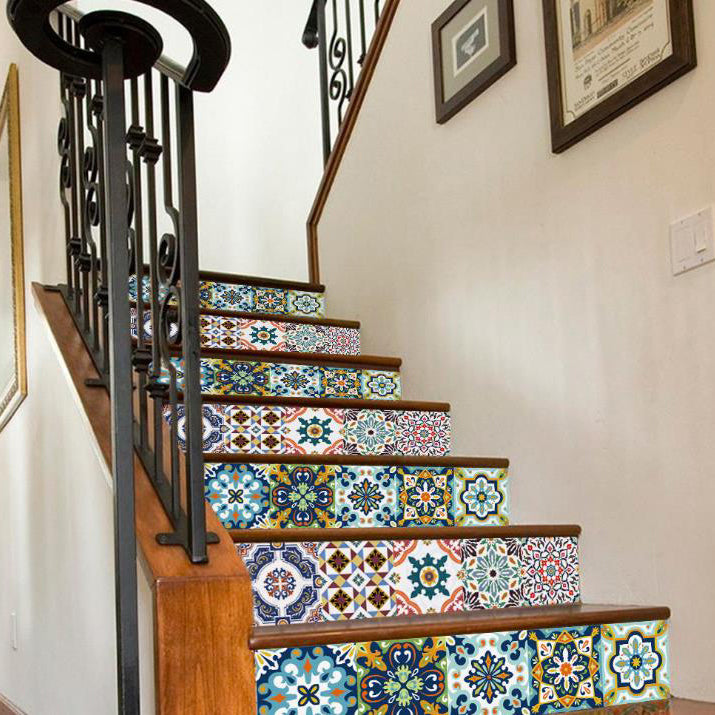 3D Digital Printing Staircase Decorative Character Pattern Print Waterproof Stair Stickers