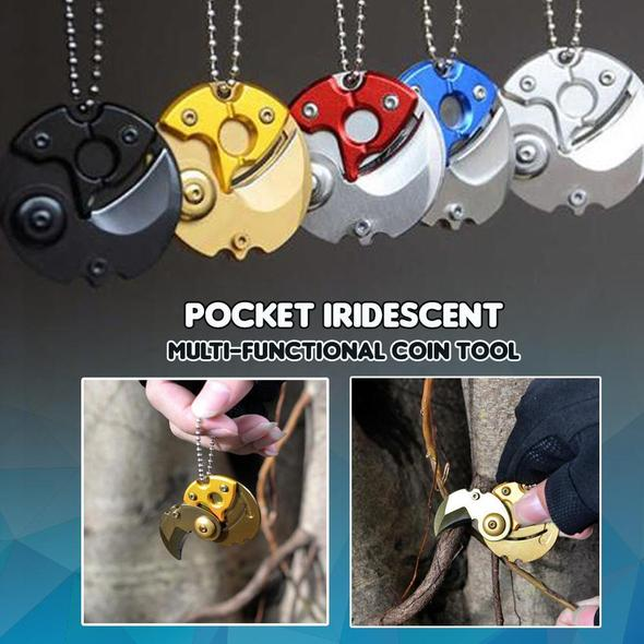 Pocket Iridescent Multi-functional Coin Tool