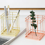 1Pc Pen Holder Solid Color Simple Nordic Style Home Office Desktop Organizer