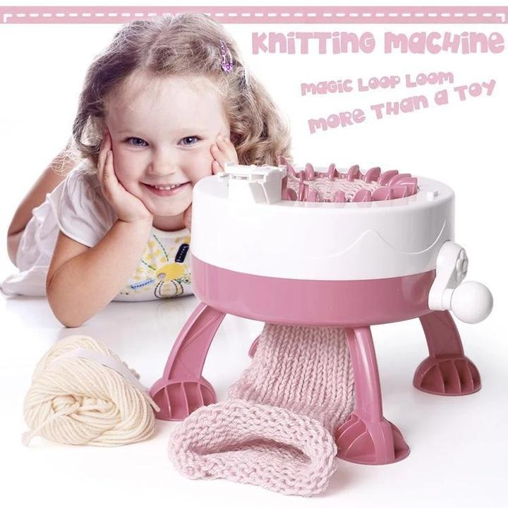 DIY Kid  Needles Knitted Machine Toy+Parent-Child Toy